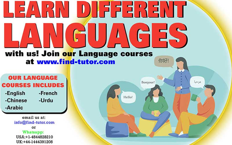 Learn different languages with us.
